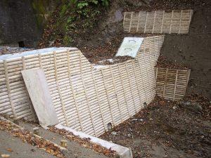 木製残存型枠パネル 山形森林管理署最上支署 戸萩沢治山