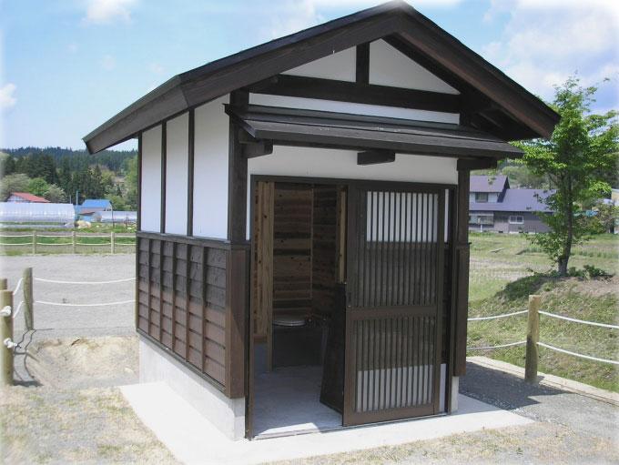 【オガコの発酵を利用したバイオトイレ】 山形県 釜渕悠愛公園