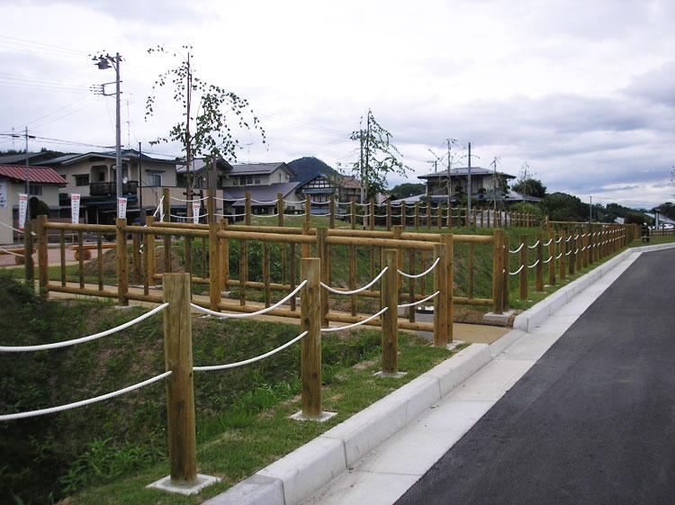 【安全柵・ロープ柵】 山形市 長谷堂城跡