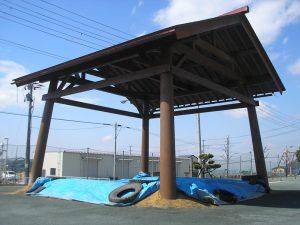【四阿】 相撲場 東根市東郷小学校