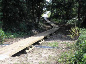 【木製歩道】 最上川上流村山地区 環境整備工事